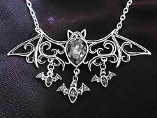 New Alchemy Gothic Creature of the Night Bat Viennese Nights Necklace P701