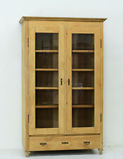 DK00234 : Large Antique Country French Raw Unfinished Pine Cabinet Cupboard