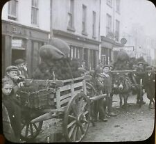 Irish Coal for Sale, High Street, Killarney, Ireland, Magic Lantern Glass Slide