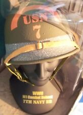 1/4 Gearbox Military WWII D Day 7th U.S.Navy Omaha Beach Battalion M1 Helmet