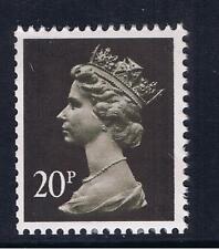 GB QEII Machin Definitive Stamp. SG X916 20p Brownish Black. 2B. MNH
