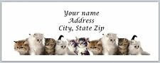 30 Personalized Return Address Labels Kittens Buy 3 get 1 free (c791)