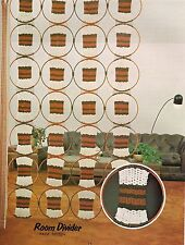 Retro Hanging Room Divider Pattern #DC02 Macrame Unlimited Craft Book