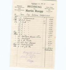 alte Rechnung, Martin Ruopp Kurzwaren 1920 Dettingen (Horb) #E721
