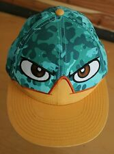 Walt Disney Parks Phineas And Ferb Perry Snapback Hat Camo Flat Bill Ball Cap