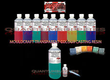 250g MOULDCRAFT TRANSPARENT JADE COLOUR CASTING RESIN KIT - CRAFTS - WATER CLEAR
