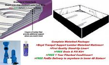 FACTORY DIRECT SALE-KING/CA K 99% Waveless Lumbar Waterbed Mattress + FREE Liner