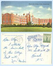 Misericordia College Dallas Pennsylvania School 1941 Postcard - Architecture