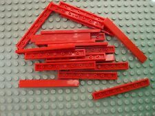 Lego ~ Bulk Lot Of 20 Red Smooth 1x8 Finishing Tiles Flat Roof/Floor 1 x 8 #vf