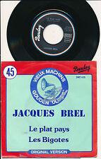 """JACQUES BREL 45 TOURS 7"""" BELGIUM LE PLAT PAYS"""
