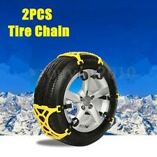 2Pcs Easy Installation Car Vehicle Truck Snow Chain Tire Chain Anti-skid Belt