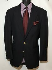 RALPH LAUREN CHAPS Men's Sport Coat 40L 2 Button 100% Wool  Navy Jacket Blazer