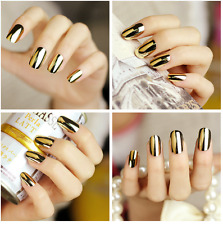 Smooth Nail Art Sticker Patch Foils Armour Wraps Decoration Decal Woman Gold