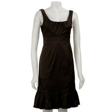 New Donna Ricco Women Stretch Satin $168 Dress 8681779M /Chocolate /8.