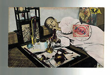1908 Peking China Russian Post Office Real Picture Postcard Cover Opium Smoker