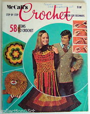 1970'S McCALL'S STEP-BY-STEP CROCHET LESSON FOR BEGINNERS