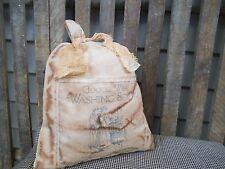 LAUNDRY BAG ~ PRIMITIVE WASH BAG ~ LAUNDRY DECOR ~ PRIMITIVE LAUNDRY ~ GRUNGY
