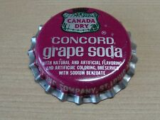 Old Beer Bottle Crown Cap ~^~ CANADA DRY Concord Grape Soda ~ St Louis, MISSOURI
