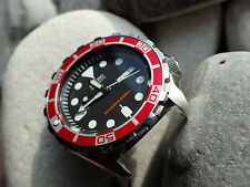 THE.DODGER.ONE RED CUSTOM INSERT F. SEIKO SKX 007 WITH LUM.DOT Z-05-D