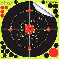 """25 Pack, 12"""" Stick & Splatter Adhesive Splatterburst Paper Target Gun Rifle BB"""