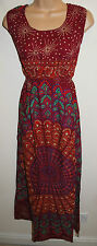 New Fair Trade Dress L 16 18 Hippy Ethnic Boho Gypsy Hippie Cotton Mandala Print