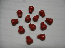 NOS Set of 12 Vintge Red Knobs-For Drawers, Cabinets,Tools,Kitchen Accessories