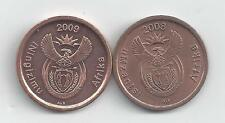 2 DIFFERENT 5 CENT COINS from SOUTH AFRICA (2008 & 2009)