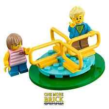 LEGO Roundabout with two children minifigures - from City Park 60134 NEW