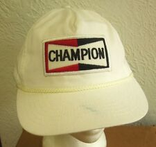 CHAMPION SPARK PLUGs logo vtg baseball cap 1980s beat-up auto racing hat