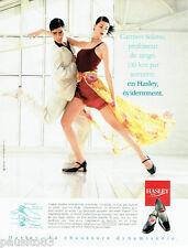 PUBLICITE ADVERTISING 036  1999  les chaussure Hasley Carmen Solario prof  tango