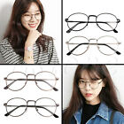 Retro Women Men Round Clear Lens Glasses Nerd Spectacles Eyeglass Metal Frame