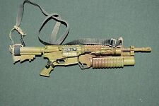 "BBI 1/6 Tan M4 Assault Rifle Gun BARNEY w/ Grenade Launcher for 12"" Figure W-117"