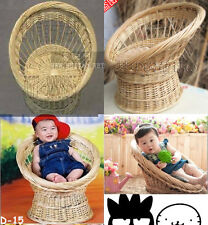 Newborn baby photography photo props handmade bassinet basket chair seat D-15