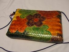 WOW Colorful bag by WAVES Painted Wicker Shoulder Bag/Purse from Philippines
