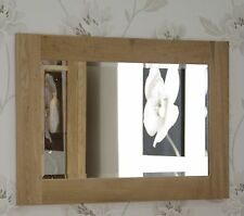 Windsor solid oak furniture small bevelled glass wall mirror