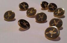 7 X 16mm Brass Shank Buttons (New)