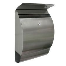 Stainless Steel Mailbox Wall Mount Locking Postal Mail Box Letterbox Home Office