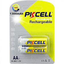 2PCS 1300mAh 1.2V NIMH AA Rechargeable Battery double a batteries Free Shipping
