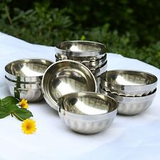 10Pcs Stainless Steel Bowl 4.5 inch Double Insulated Welding Edge Tableware