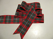 "MacGregor Tartan Red & Green Plaid Ribbon Extra Wide  2 3/4""  - By the Yard"