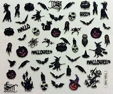 Halloween 3D Nail Art Stickers Decoration Witch Spider Bat Pumpkin Skull (Y140)