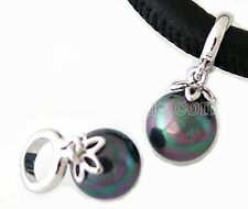 Silver Green Purple Marbled Charm For Endless Story Bracelet Jewelry