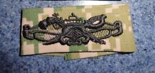 NAVY,SW COMBATANT CREWMAN,BADGE,CLOTH,SPECIAL WARFARE NWU TYPE II AOR CAMO GREEN
