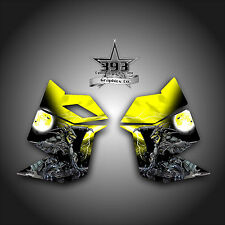 SKI DOO REV XP SNOWMOBILE SLED GRAPHICS DECAL STICKER SIDE PANEL GUARDIAN YELLOW
