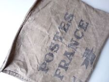 Ancien sac La Poste en toile Old Large Postal Sack La Poste Industrial Sack