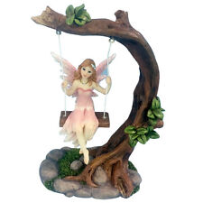 WOODLAND FAIRY ON A SWING ORNAMENT GIFT IDEA - MAGIC - GARDEN - FAIRIES - GIFTS