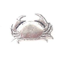 Crab Finely Handcrafted in Solid Pewter In UK Lapel Pin Badge SS02