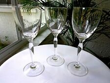 Set of 3 Tall Stem Clear Wine Glasses Pier 1