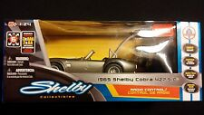 1965 Shelby Cobra 427 S/C Silver Remote Radio Control RC Car 1:24 FORD LICENSED