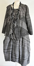STUNNING DESIGNER LUPA PARACHUTE DRESS & JACKET SIZE XL/XXL STEEL